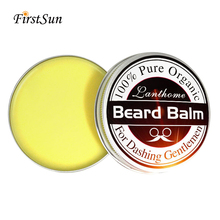 Men Natural Beard Oil Balm Moustache Wax for styling Beeswax moisturizing smooth