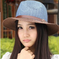 Fashion  New Women's Sun Hat Summer Beach Cap Sunbonnet Big Sunscreen Strawhat,Free shipping