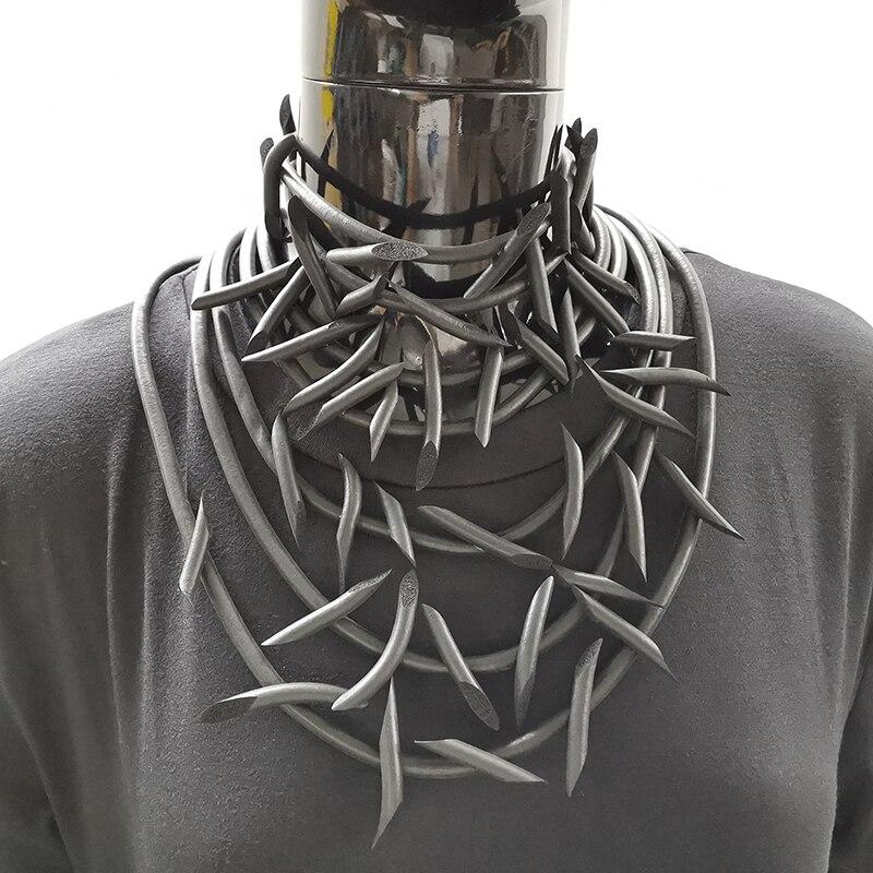 YD & YDBZ Дизайнерское колье чокер, новинка 2019, женские резиновые украшения ручной работы, винтажные ожерелья в стиле панк, 3 стиля, аксессуары для одежды|Ожерелья с подвеской|   | АлиЭкспресс