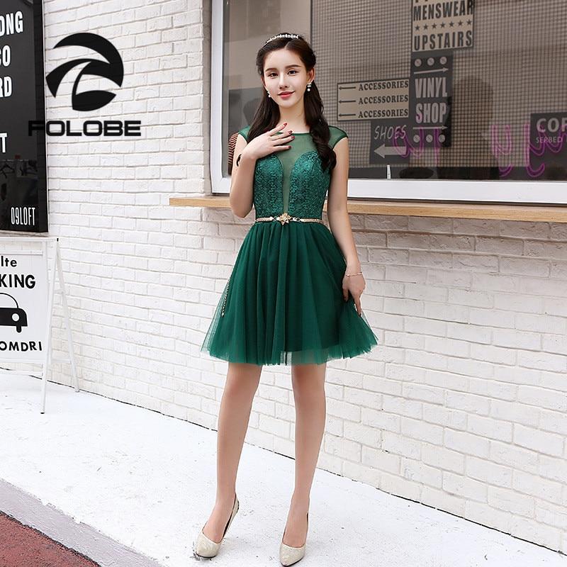 FOLOBE Vintage Autumn Dark Green Lace Sleeveless Backless Midi Sash Lace Women Girl Dress Formal Dresses