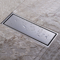 Tile Insert Rectangular Floor Waste Grates Bathroom Shower Drain 300x 110mm ,304 Stainless steel
