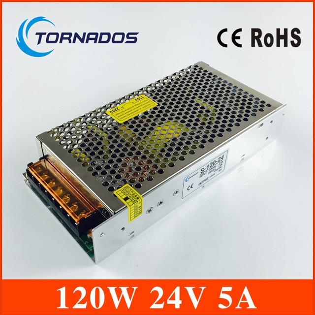 Led control Voltage Transformer Power supply 24V 5A 120W Input AC 100V-240V Output  DC 24V for Led Strip