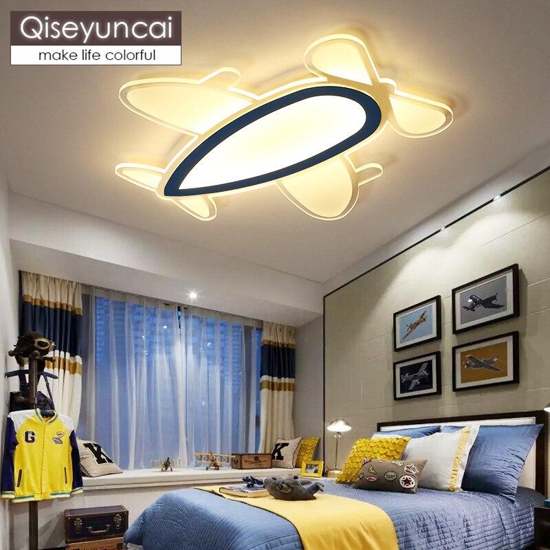 Işıklar ve Aydınlatma'ten Tavan Işıkları'de Qiseyuncai Modern minimalist yaratıcı akrilik roket çocuk odası tavan lambası erkek kız karikatür led yatak odası lambası ücretsiz kargo title=