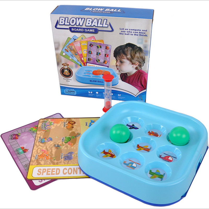 Blow Ball Toys For Children Desk Toy Board Game Letter Number Chess Speed Contest Toys