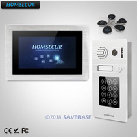 HOMSECUR 7 Wired Video&Audio Smart Doorbell Door Intercom with Password Access+Touch Screen Monitor for Apartment