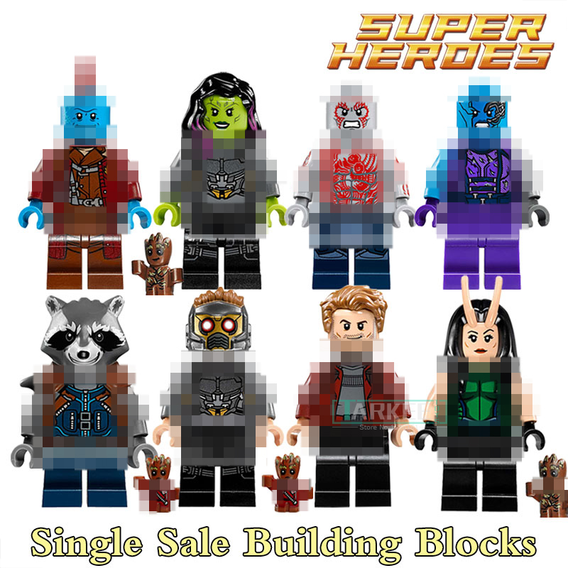 Building Blocks Guardians of the Galaxy Star Lord Rocket Racoon Gamora Star Wars Super Hero Bricks Kids DIY Toys Hobbies Figures lord of the rings pg518 witch king of angmar the black gate diy figures building blocks bricks kids diy toys hobbies single sale