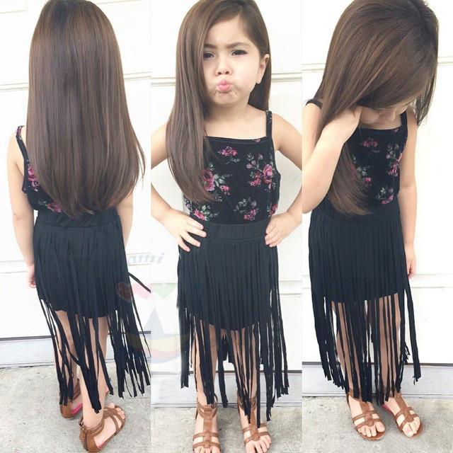 219b579bd89a FREE SHIPPING summer girls clothing sets kids girl Halter top mop ...
