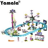 [Yamala] Amis Parc D'attractions Montagnes Russes Blocs de Construction Classique Pour Fille Enfants Modèle Jouet Compatible avec Legoingly Amis