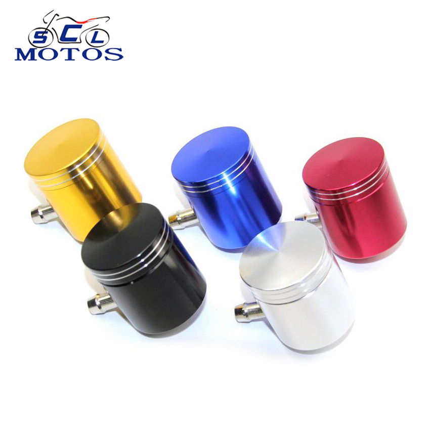 Sclmotos Motorcycle Brake Fluid Reservoir Clutch Tank Cylinder Master Oil Cup For KAWASAKI For YAMAHA For DUCATI For APRILIA cnc motorcycle brake fluid reservoir clutch tank cylinder master oil cup for yamaha fz6 600 fazer s2 2004 2005 2006 2007 2008