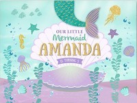 Custom Mermaid Birthday Glitter Gold Aqua Sea Grass Seashell photo backdrop Computer print party background