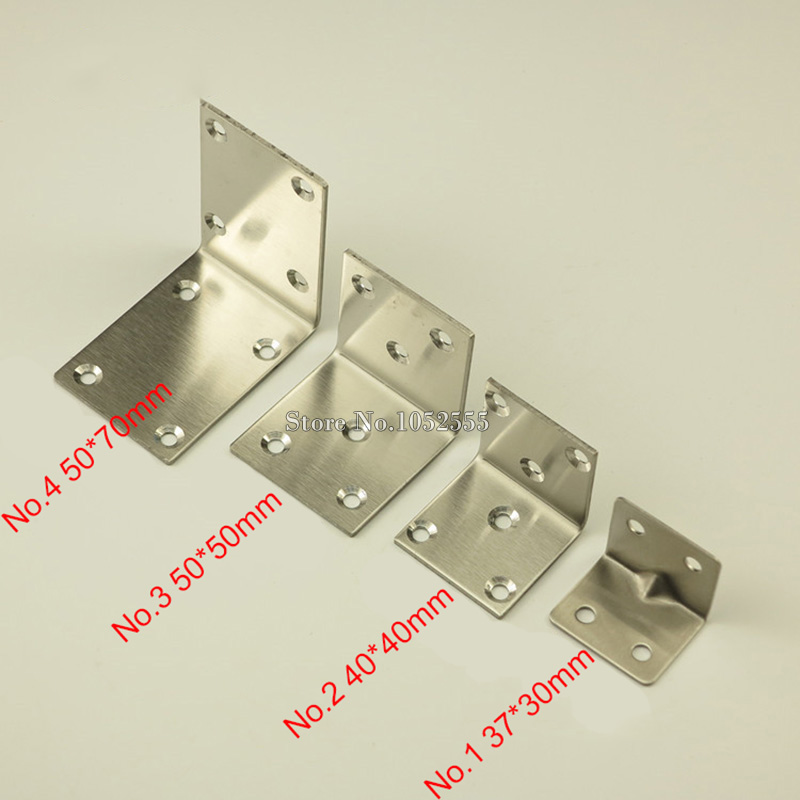 10PCS 50*50mm stainless steel furniture corners angle bracket L ...