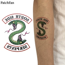 5pcs/set Patchfan Riverdale Southside Serpent diy Cool Temporary Body Art Tattoo Sticker for Shoulder Arm dropshipping A1073