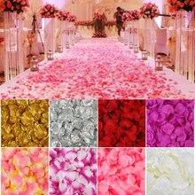500/1000/2000 pces pétalas de rosa artificiais colorido casamento romântico seda rosa flor para decoração de casamento suprimentos