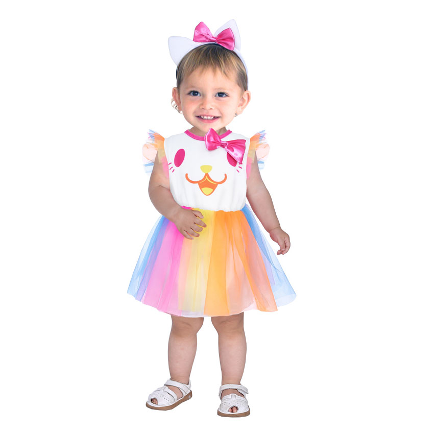 Umorden Carnival Party Halloween Costumes Toddler Baby Clown Costume Cute Rainbow Clown Cosplay for Baby Girl Fancy Dress