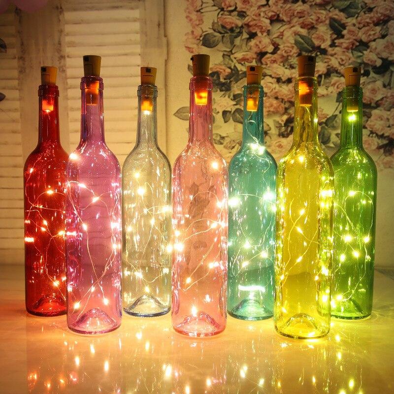 3PCS/lot Wine Bottle Cork Shape Lights Party Festival Decorations ...