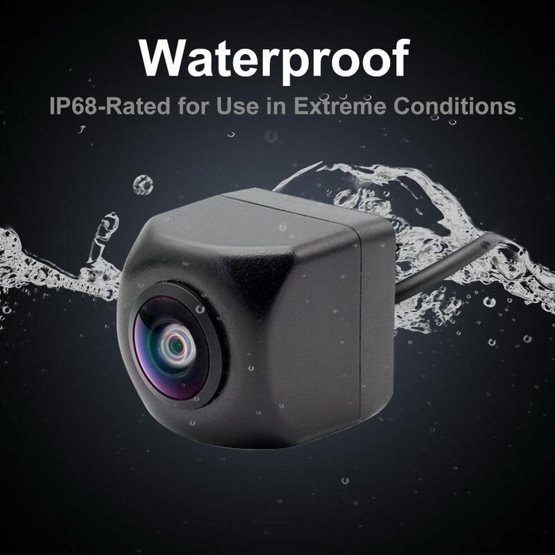 HD cámara de visión trasera de coche 170 grados de ángulo 3