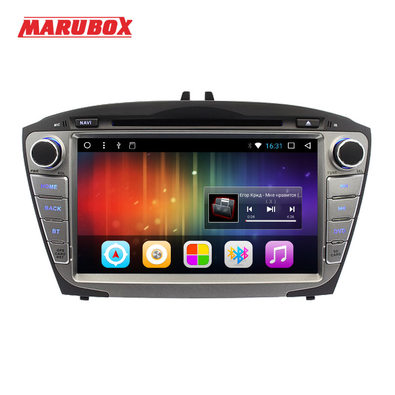 Marubox Tête Unité Pour HYUNDAI ix35 Tucson 2009-2014 2 Din Android 7.1 Radio GPS Navigation DVD De Voiture Multimédia lecteur 8A301DT3