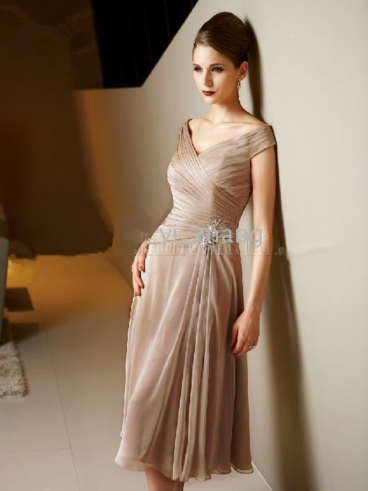 Modest%20Mother%20of%20the%20Bride%20Dress%20A%20line%20Off%20the%20Shoulder%20J3316%20Tea%20Length%20Chiffon%20Real%20Actual%20Images