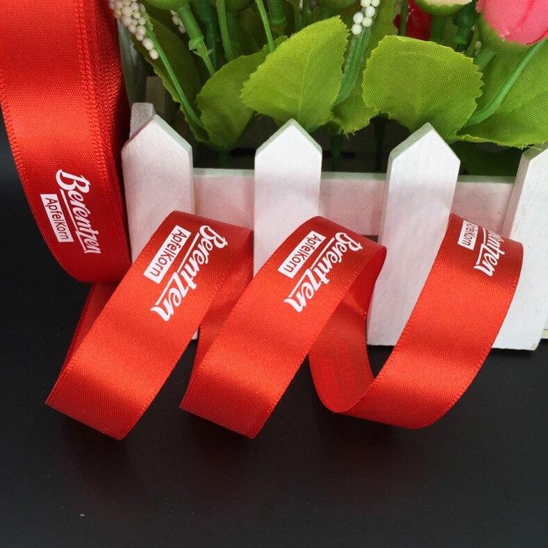 Gratis Verzending custom gift lint/print logo satijnen lint/verpakking lint voor Bruiloft/verjaardag-in Linten van Huis & Tuin op  Groep 3