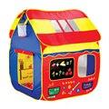 Diversión Aro De Baloncesto Juego Cabaña carpa Para Niños grandes casas de juego plegable portátil de casa de juguete océano piscina de bolas juguetes para bebés niños regalo