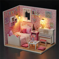 Dreamlike DIY Sunshine Series House Music Box Educational Toy Wooden Music Box Handmade Music Box Girlfriend Gift For Birthday