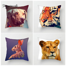Fuwatacchi 3D Geometric Animal Cushion Covers Dog Cat Tiger Bird Pillow Cover Decorative Sofa Chair Home Decoration Accessories