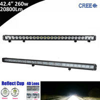 1pcs 260W 42inch 42 ED Light Bar Combo Beam For Ford Focus UTV ATV Truck Automobiles