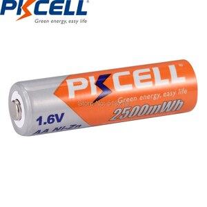 Image 3 - 4個pkcell aa 2500mWh 1.6 12v ni zn系aa充電式バッテリー電池過電流保護おもちゃデジタルカメラMP4