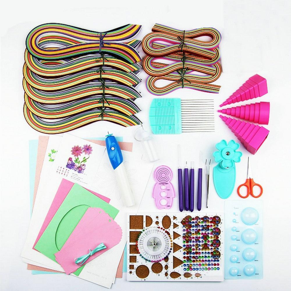 Quilling Papier Papier Dessin Set En Papier Couleur Matériel Paquet Débutants Outil D'apprentissage avec De Luxe Électrique Rouleau papier stylo