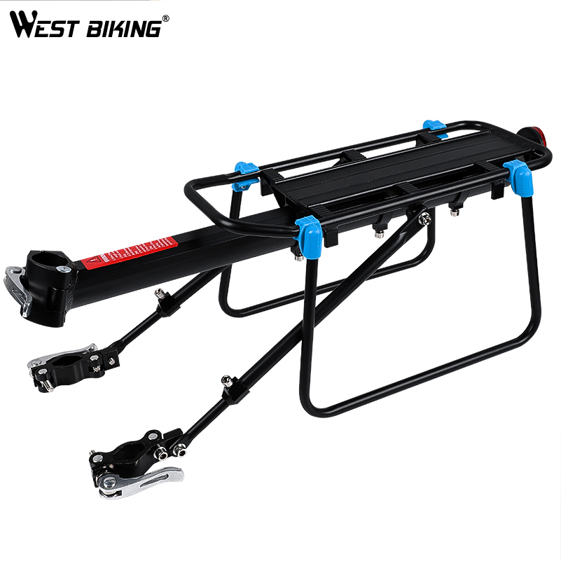 WEST BIKING Bicycle Luggage Carrier Cargo Rear Rack 20-29 Inch Bikes Install Tools Shelf Cycling Seatpost Bag Holder Stand Racks