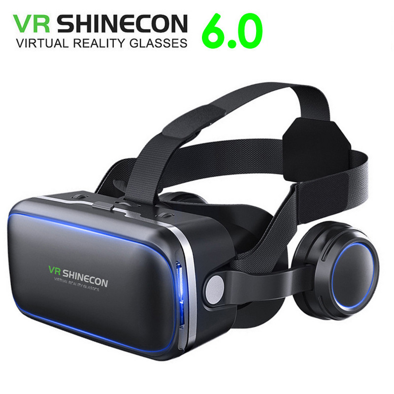 Original VR shinecon 6.0 headset version virtual reality glasses 3D glasses headset helmets for smartphone