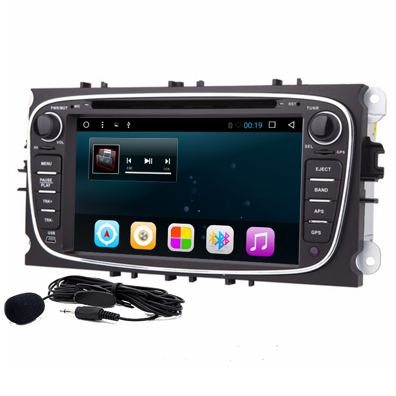 7 Android 6.0Car DVD GPS Navigation for Ford Focus Ford Mondeo 2012 2013 2014 with Dual Core Radio Wifi steering wheel control