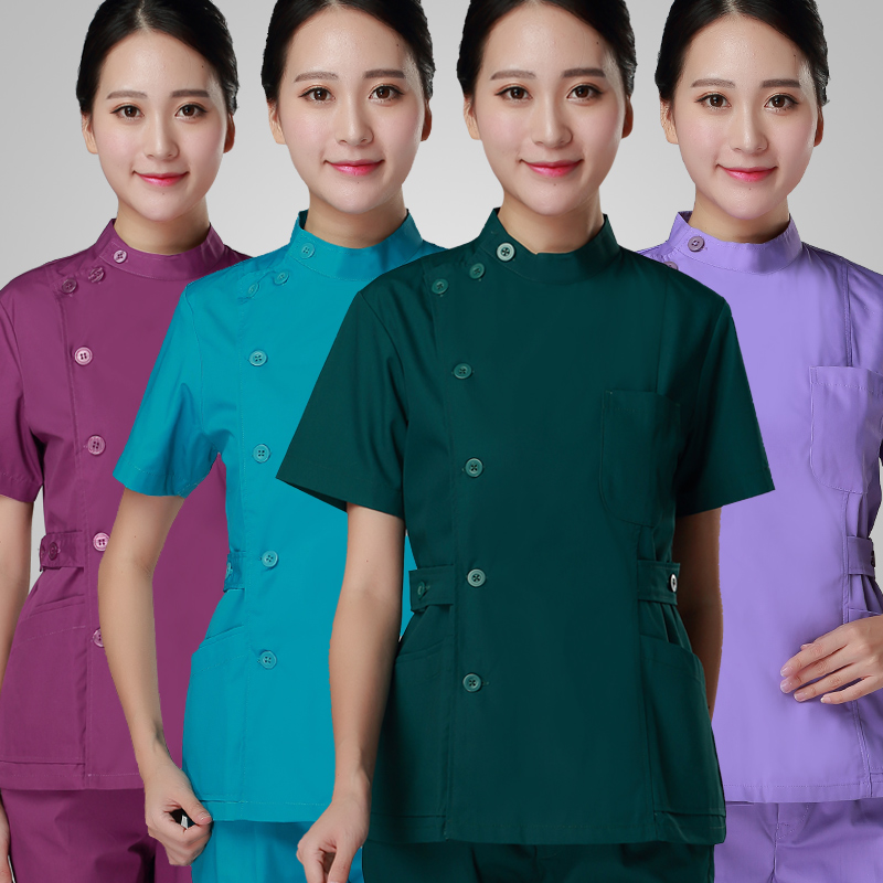 2017 New Long-short Sleeves Beautician Work Clothes Female Summer Beauty Salon Overalls Nurses Clothing Beautician Uniform