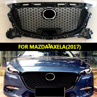 ABS Front Black Middle Grille Front Bumper Grill Upper Grille For Mazda 3 Axela 2017 2018