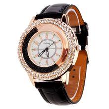 NOVAS Mulheres de luxo Rodada Relógios Clássico Relógio Feminino Relógios de Quartzo de Cristal Senhora Vestido relógios de Pulso reloj mujer Frete Grátis