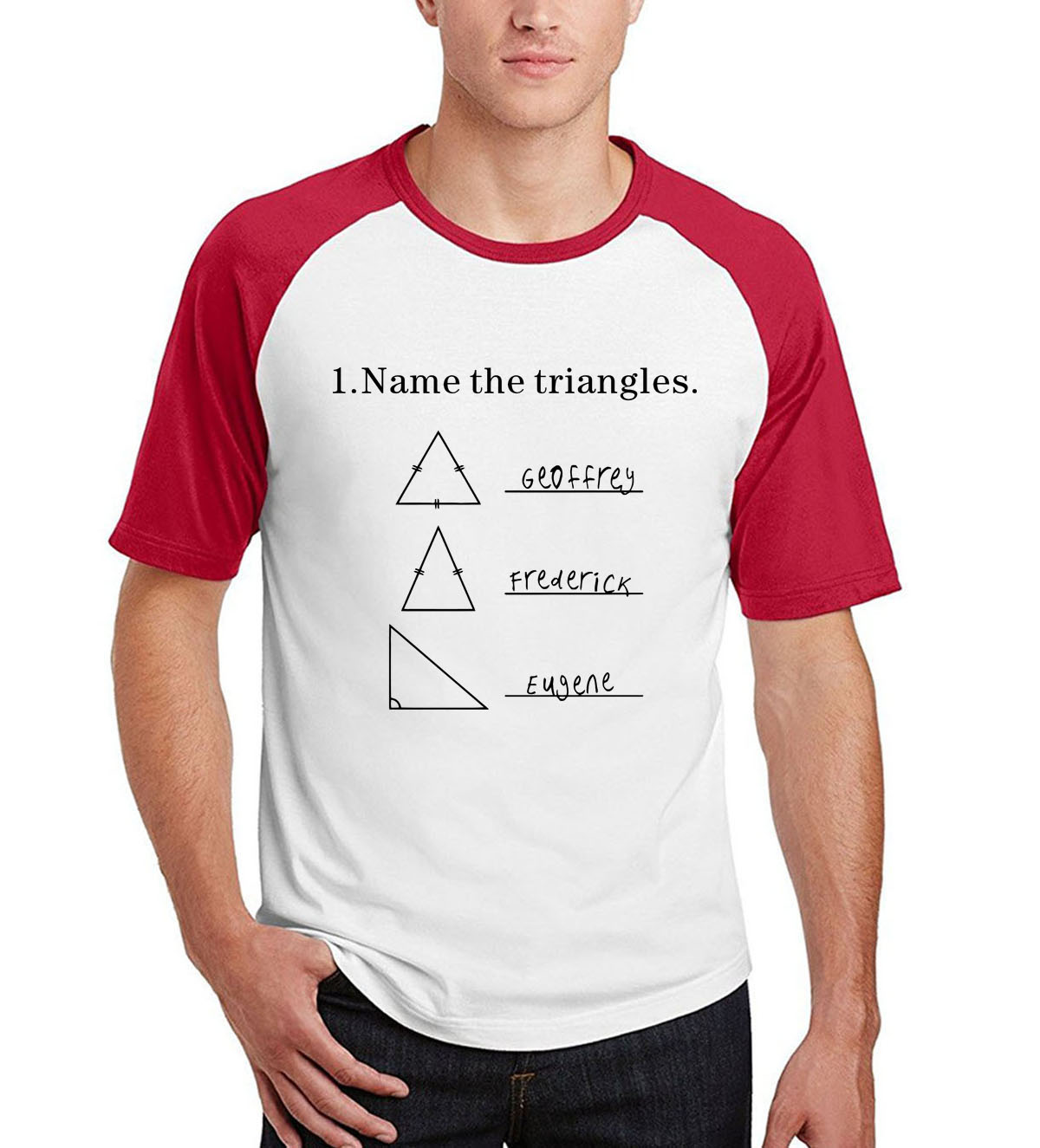 men raglan short sleeve cotton camisetas 2019 summer new arrival Name The Triangles T Shirt funny Math Triangle brand punk tops