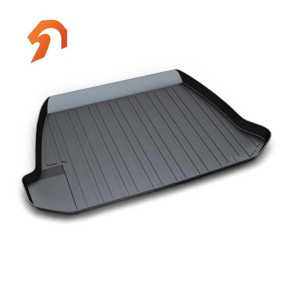 Rubber Rear Trunk Cover Cargo Liner Trunk Tray Floor Mats For Volvo S60 2014-2017 Car Floor Trunk Carpet Liner Mats