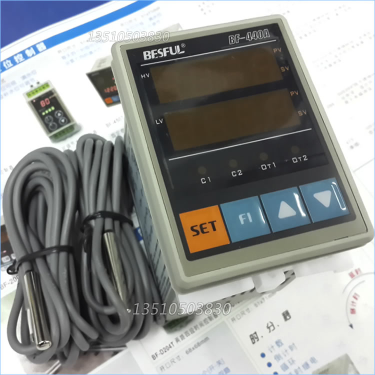 Shenzhen BESFUL BF-440A solar hot water temperature thermostat  dual probe temperature controller two way bf15b solar brain dual sensing line temperature difference instrument controller
