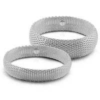 Fashion Silver Wide Bracelet Personality Is Solid 925 Silver Women Bracelet Soft Mesh Bracelet Charming Lady