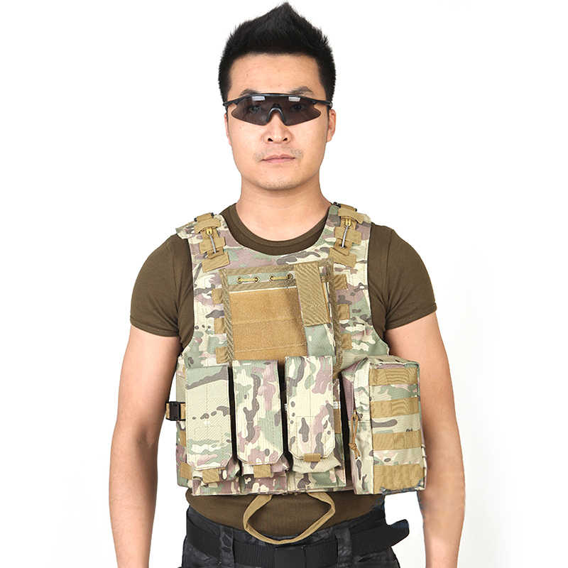 Gilet tactique militaire Forces spéciales Combat Paintball Camo équipement gilet CS gilet Camouflage 600D Oxford gilet tactique