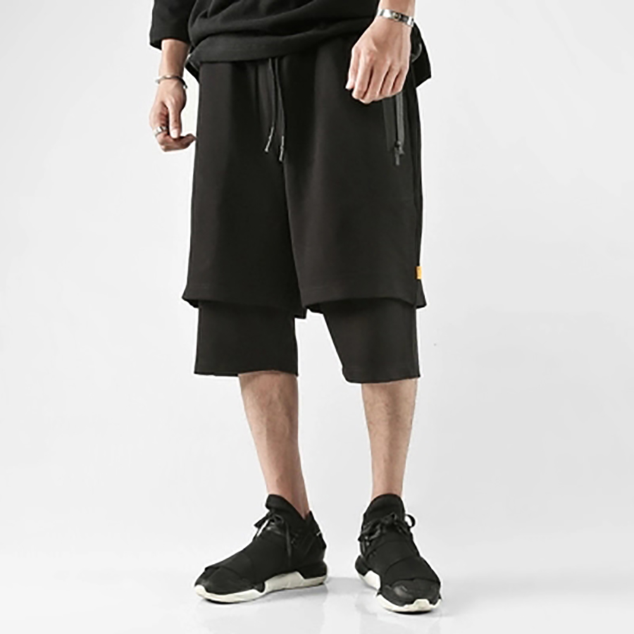 Calções de homem de cintura alta calças de moletom de moletom com capuz shorts de homem