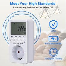 EU UK US FR TH Plug Digital Weekly Programmable Electrical Wall Plug-in Power Socket Timer Switch Outlet Time Clock 220V 110V AC стоимость