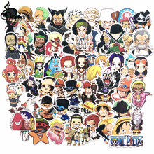 Hot 60pcs PVC One Piece Stickers Fashion High Quality Waterproof For Suitcase Refrigerator skateboard laptop