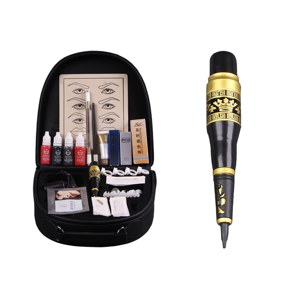 High-grade Professional Permanent Makeup Kit Manual Eyebrow Tattoo Pen Machine Set PCD Lip Repair Protect Senior Trunk wm01 professional eyebrow tattooing machine kit