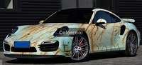 Iron Rusted Vinyl Wrap Film For Car Sticker Wrap Rust style Wrapping Colored Car Full Body Wrap Vinyl Bomb Bubble Free