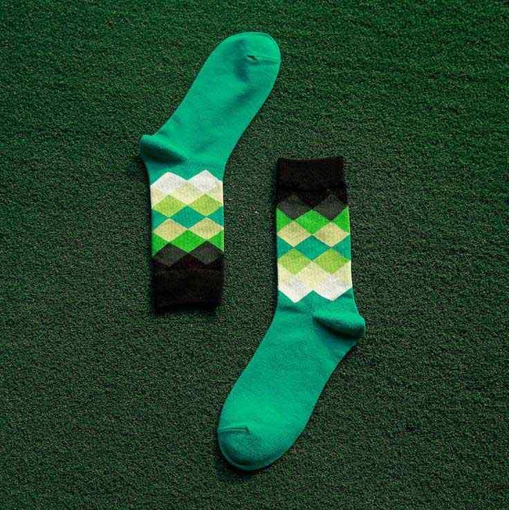 5 пар/лот мульти Цвет Для мужчин's Носки в британском стиле клетчатые градиентные Цвет бренд elite длинные хлопковые носки happy ромб намерение combinatio