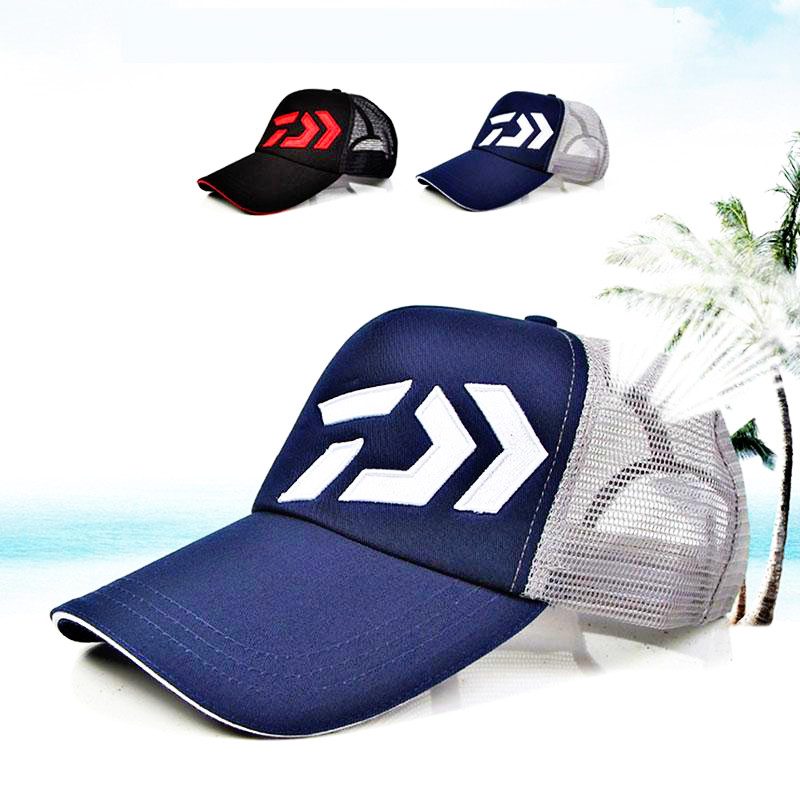 Daiwa Fishing Hat Male Sunshade Sun Visor Daiwa Breathable Fishing Cap Adjustable Hat Around Fishing Hat High Quality Pesca-in Fishing Caps from Sports & Entertainment