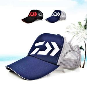 Image 1 - Daiwa Fishing Hat Male Sunshade Sun Visor Daiwa Breathable Fishing Cap Adjustable Hat Around Fishing Hat High Quality Pesca