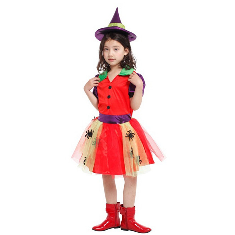 Girls Halloween Witch Costumes Children Sorceress Anime Cosplay Kids Circus Clown Role play Christmas Purim Carnival party dress-in Girls Costumes from ...  sc 1 st  AliExpress.com & Girls Halloween Witch Costumes Children Sorceress Anime Cosplay Kids ...
