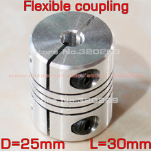 4pcs Shaft Coupler Flexible Coupling D25 L30 5mm, 6mm, 6.35mm, 8mm, 10mm, 12mm, 12.7mm for CNC 3D printer stepper motor(China)